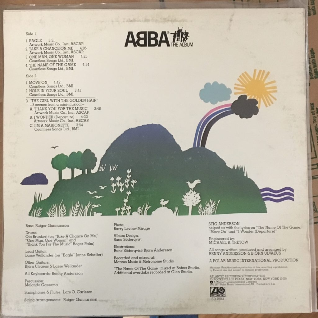 ABBA The Album back cover