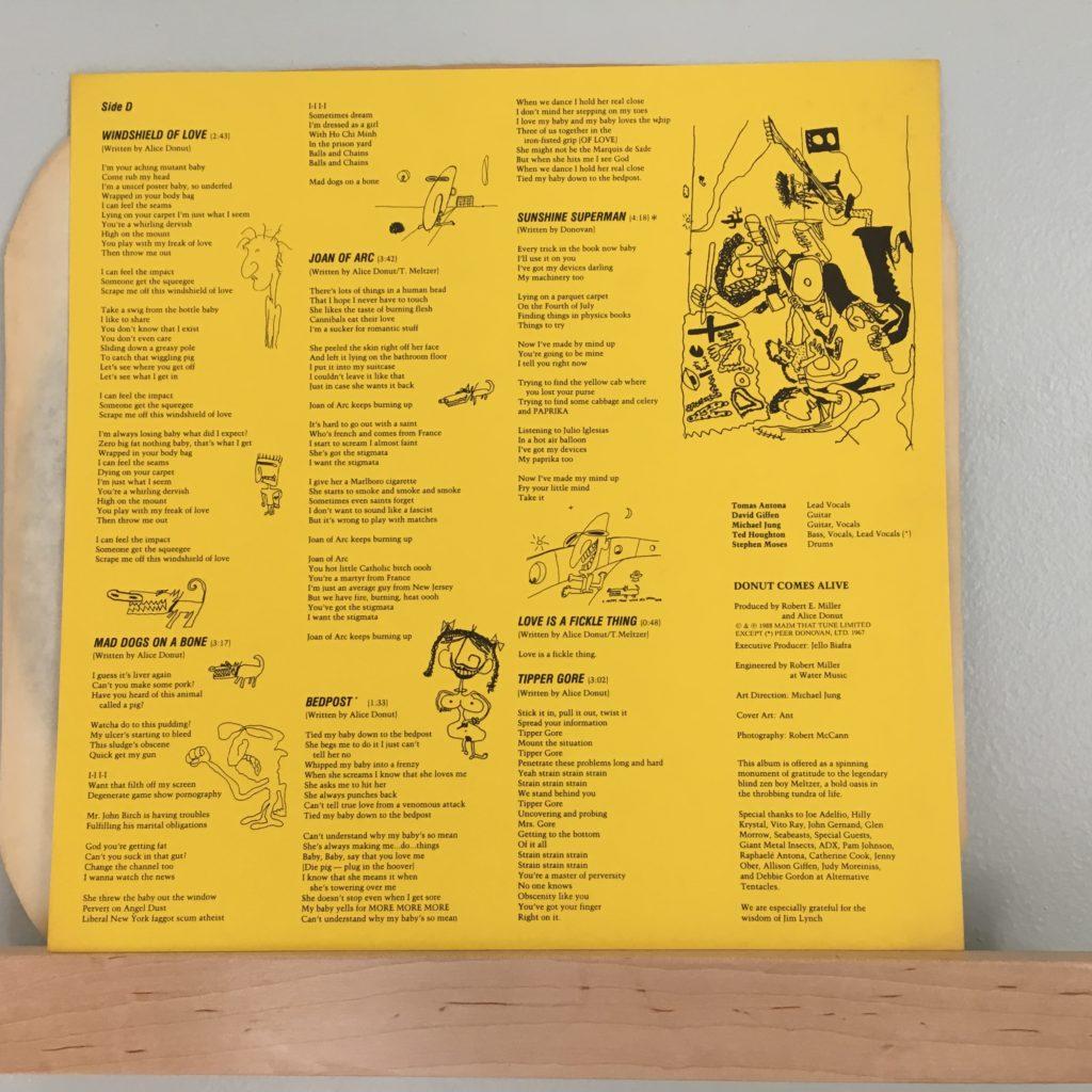 Alice Donut Lyric Sheet -- Side D