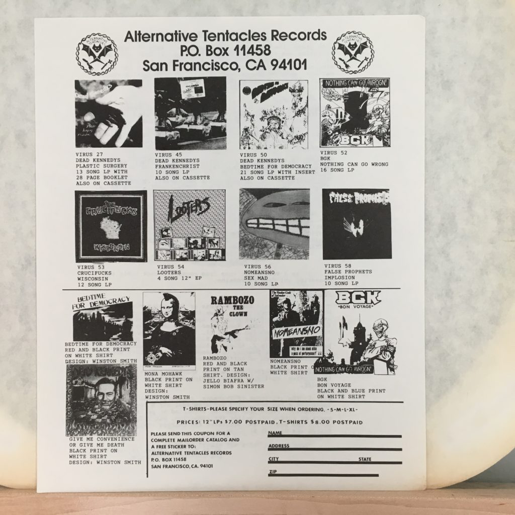 Alternative Tentacles Records Offerings