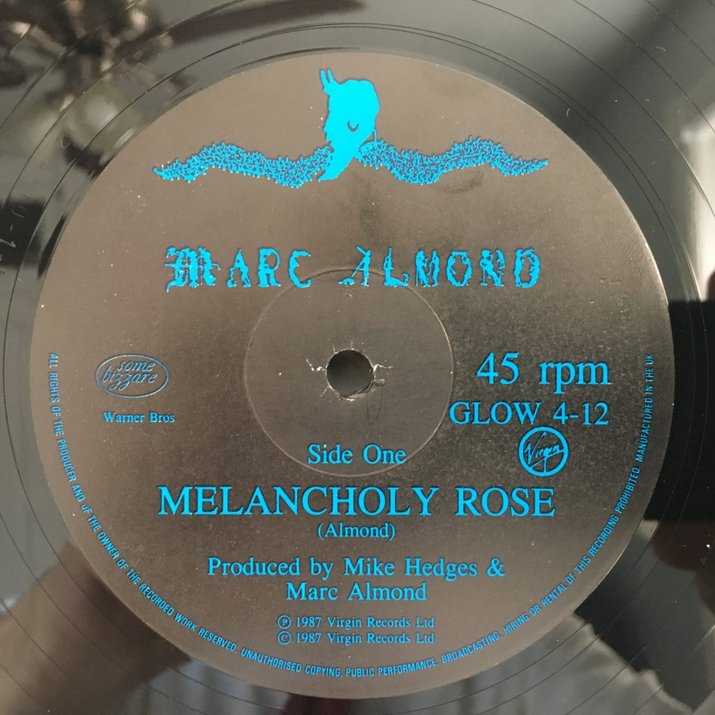 Melancholy Rose label A