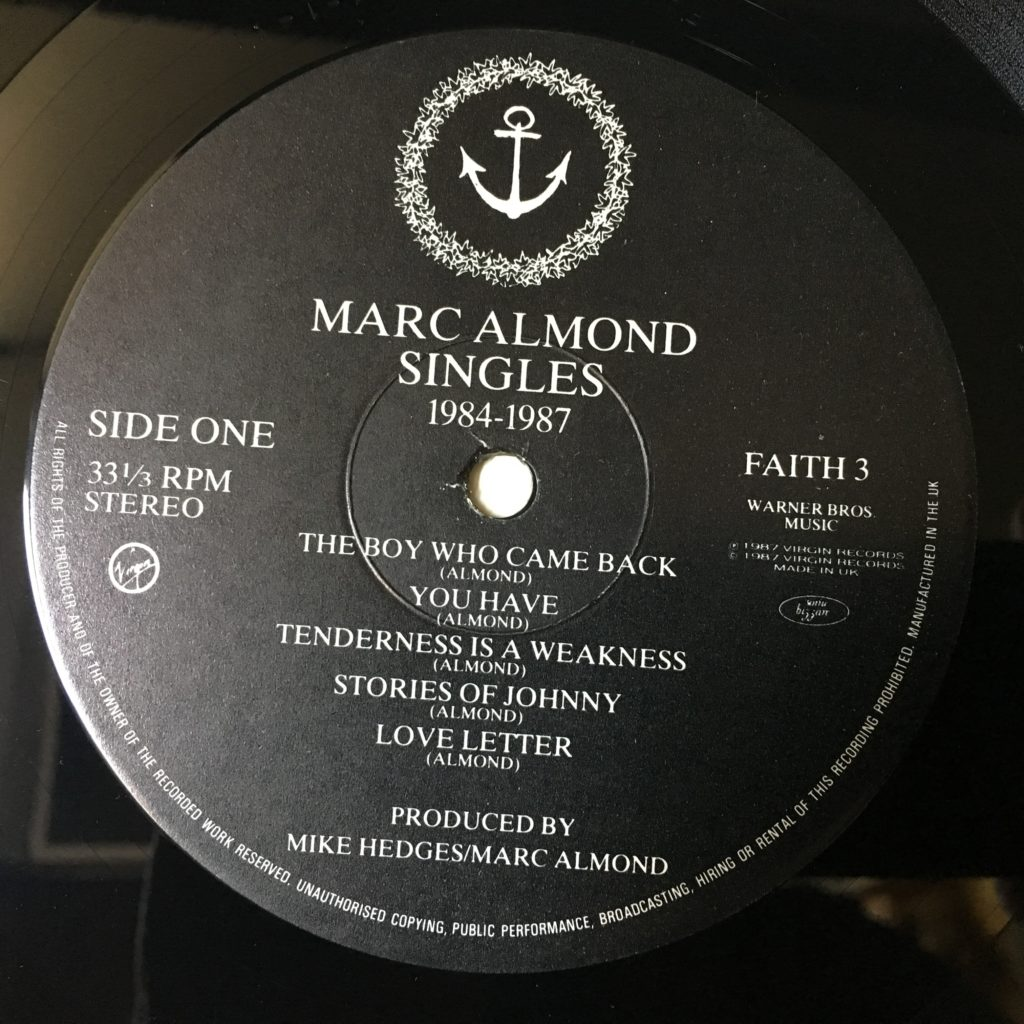 Marc Almond Singles 1984-1987 Label