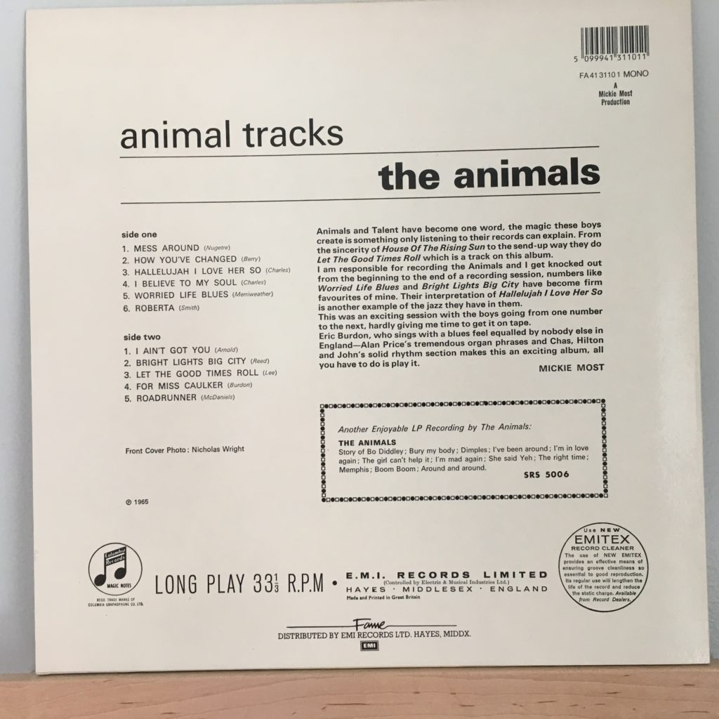 Animal Tracks UK Back Cover