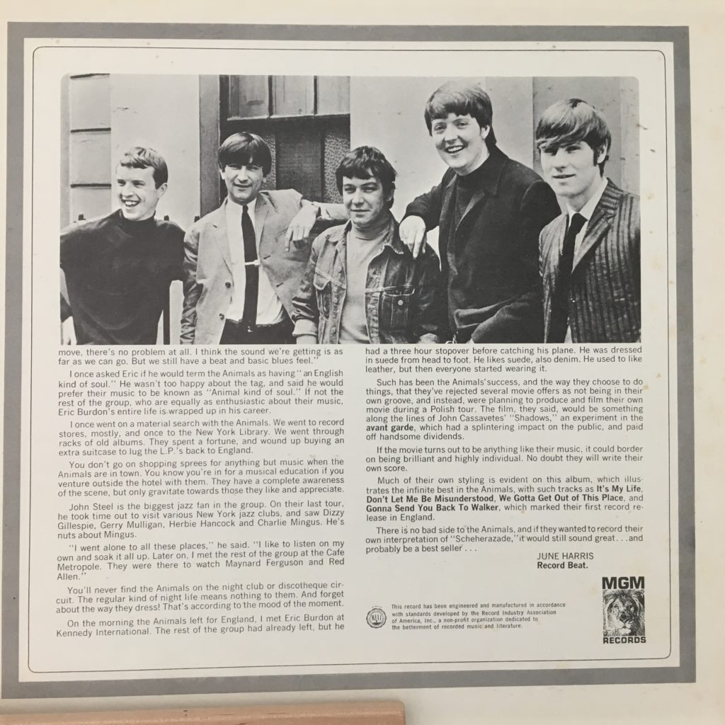 Best of the Animals Liner Notes B