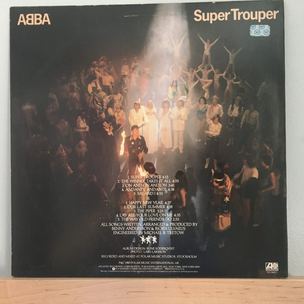 ABBA Super Trouper back cover