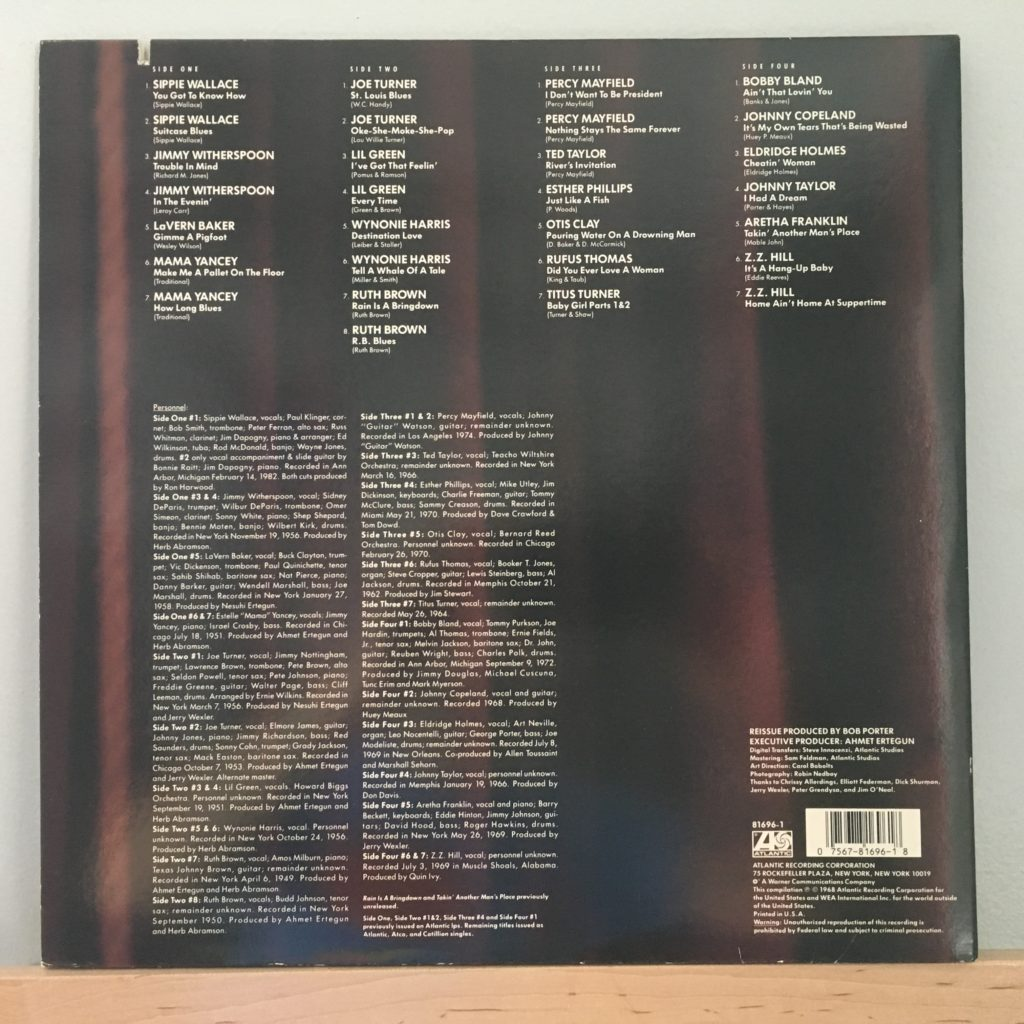 Atlantic Blues: Vocalists back cover