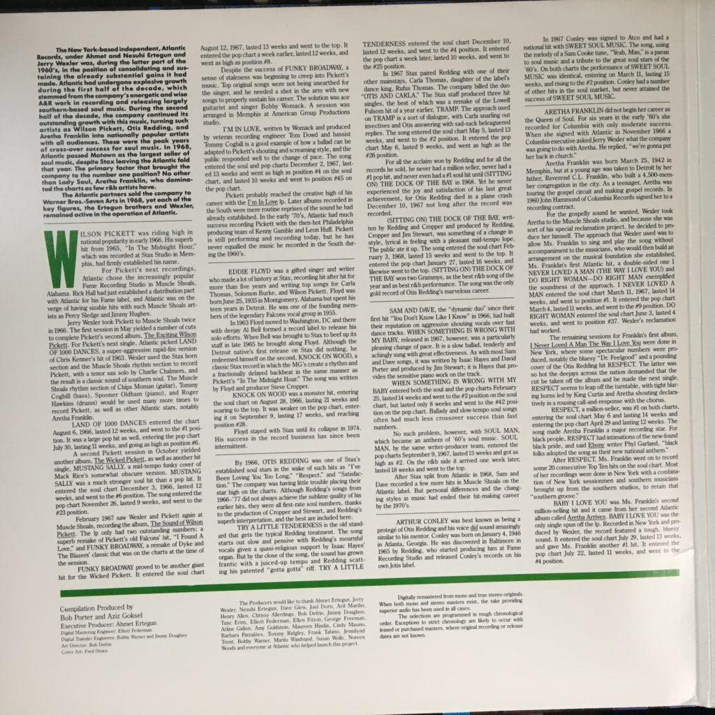 Atlantic R&B liner notes 1