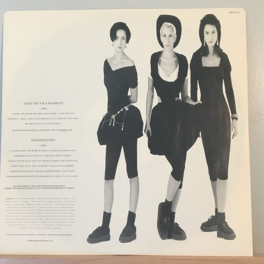 Bananarama Greatest Hits sleeve back