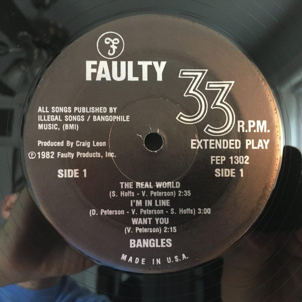Bangles EP label