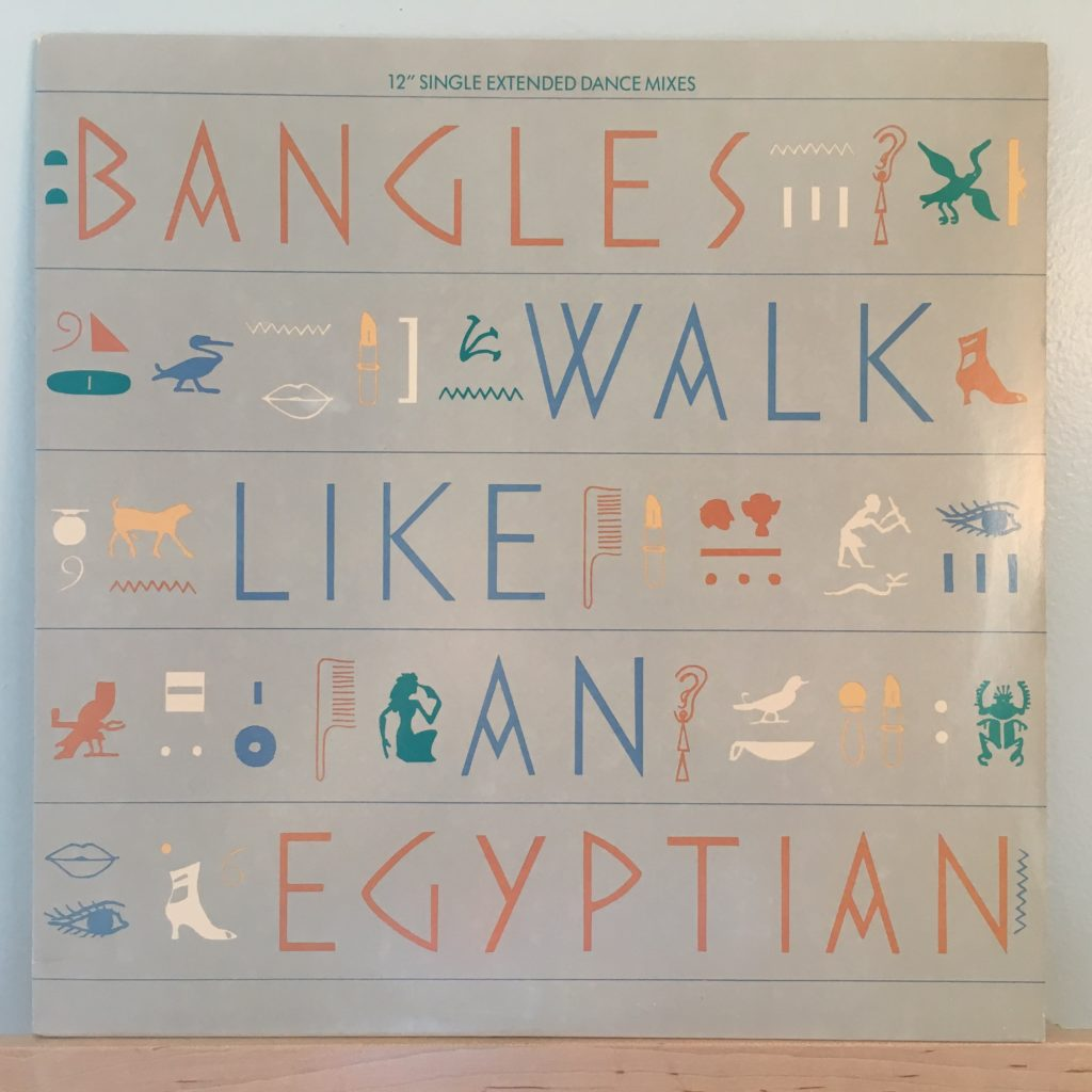 """Walk Like An Egyptian 12"""" front cover"""