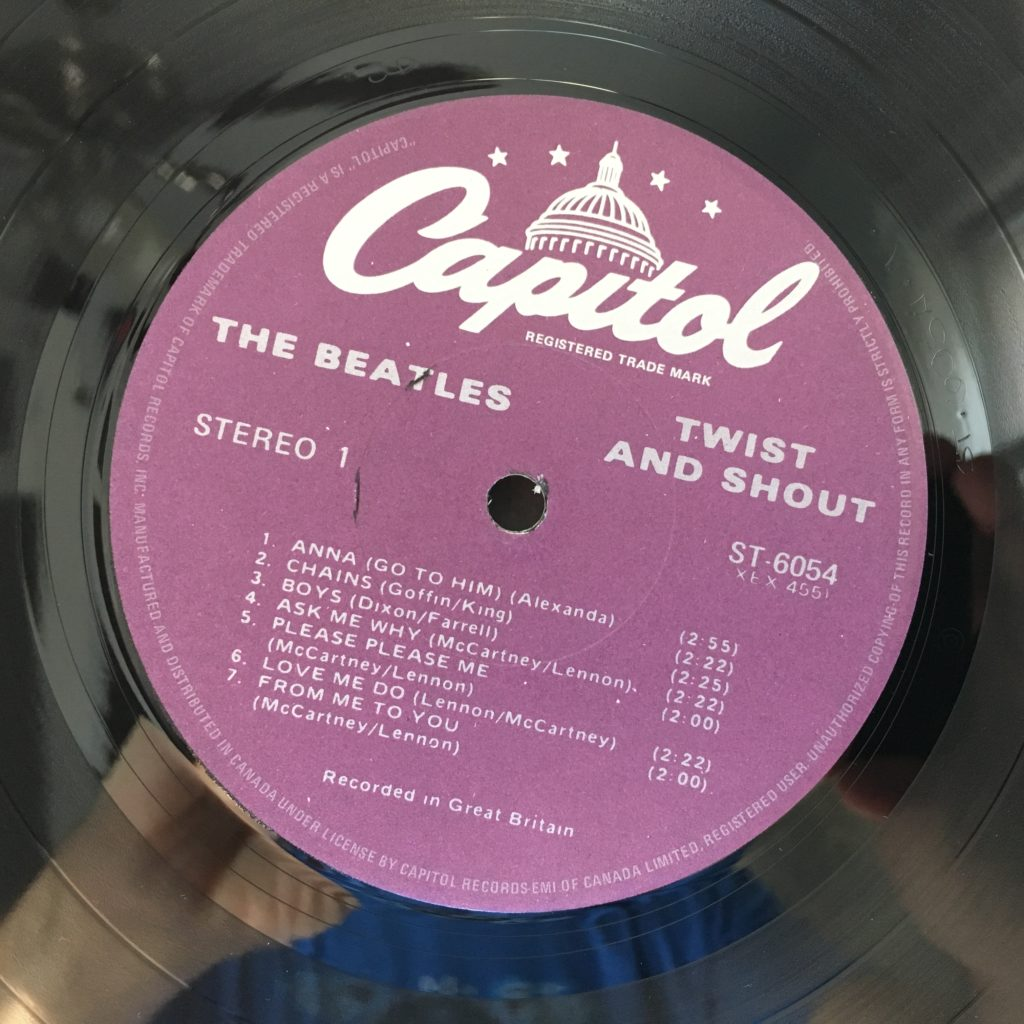 Twist and Shout label