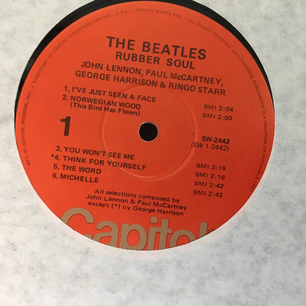 Rubber Soul label