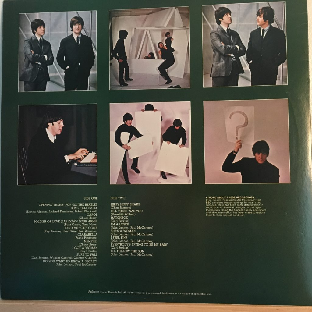 Beatles Broadcasts back cover