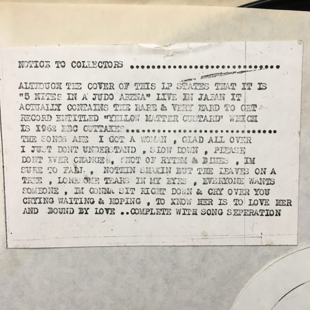 Five nights notice to collectors