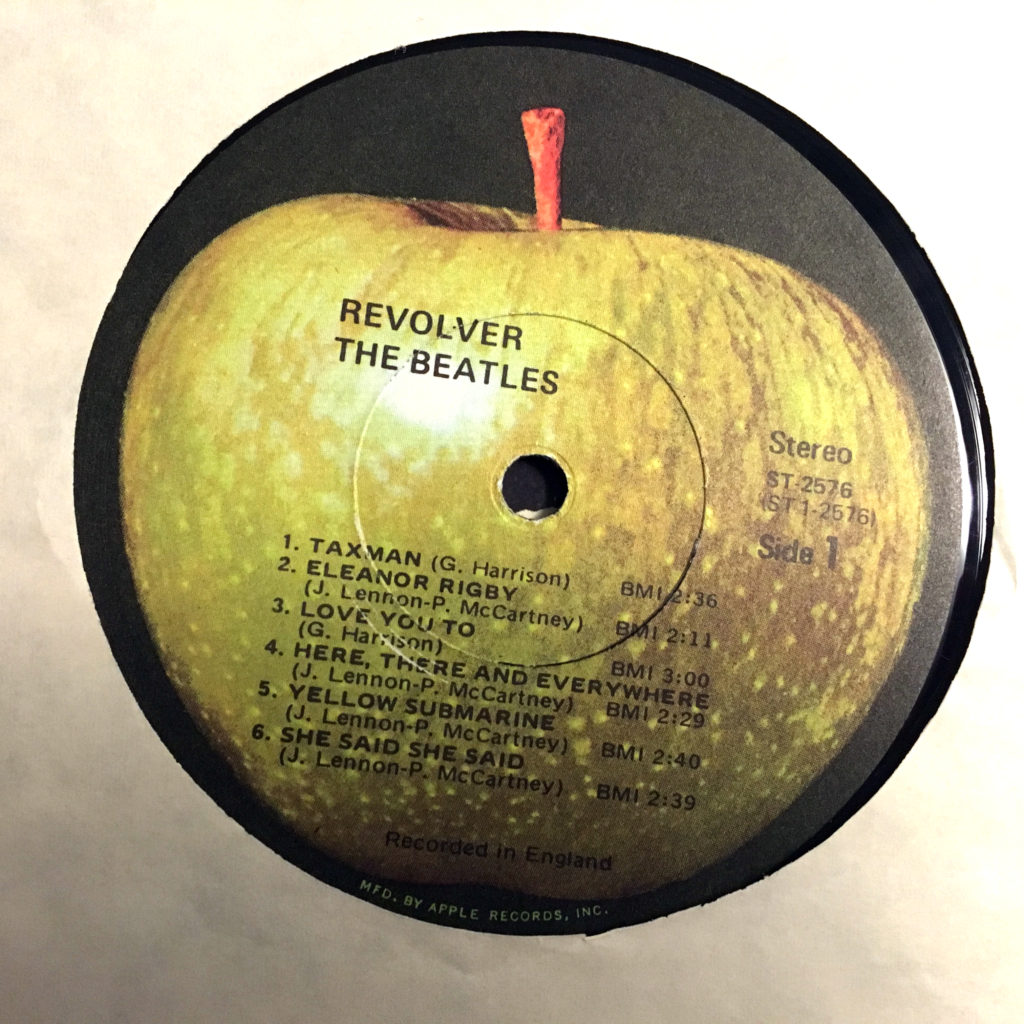 Revolver Apple label
