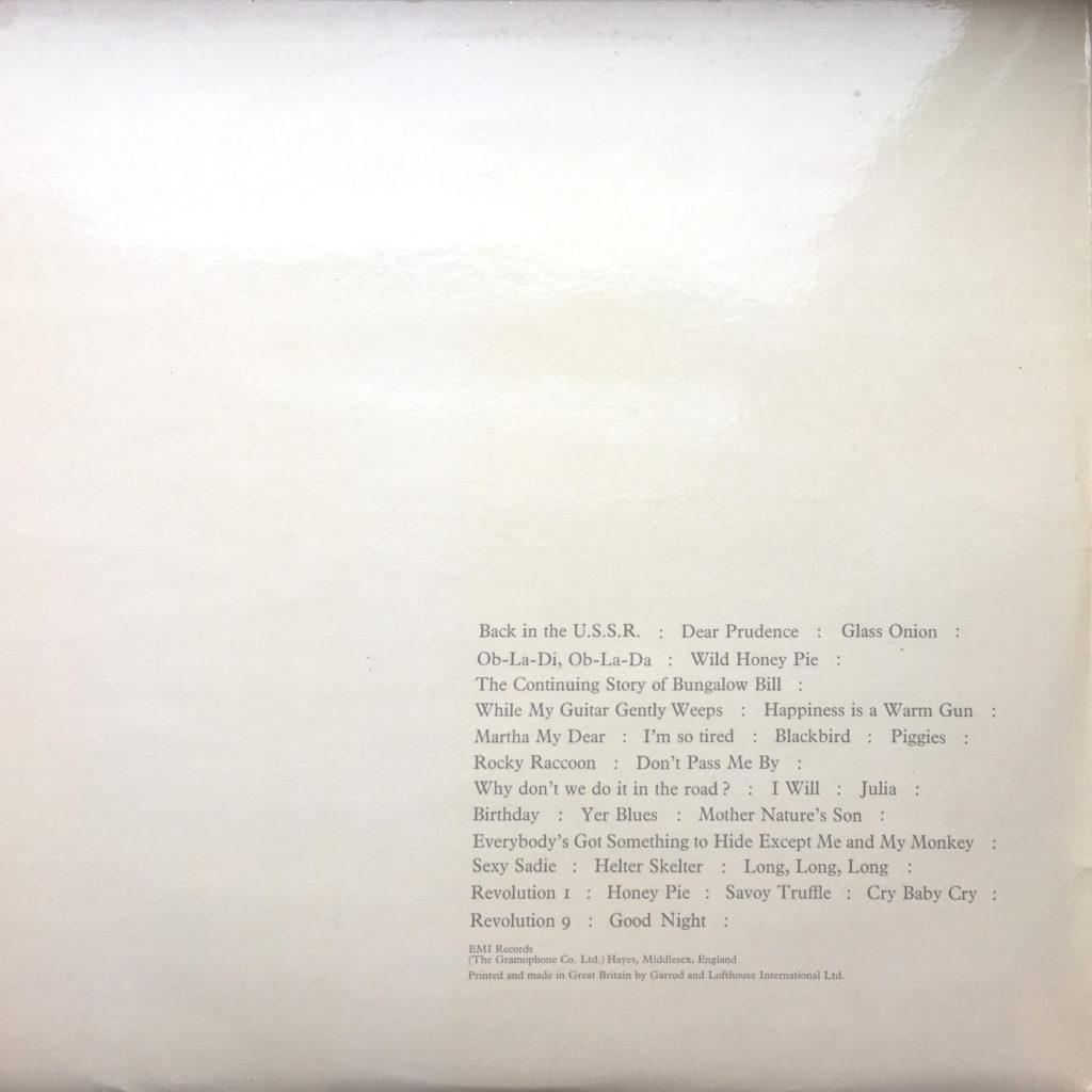 White album gatefold left