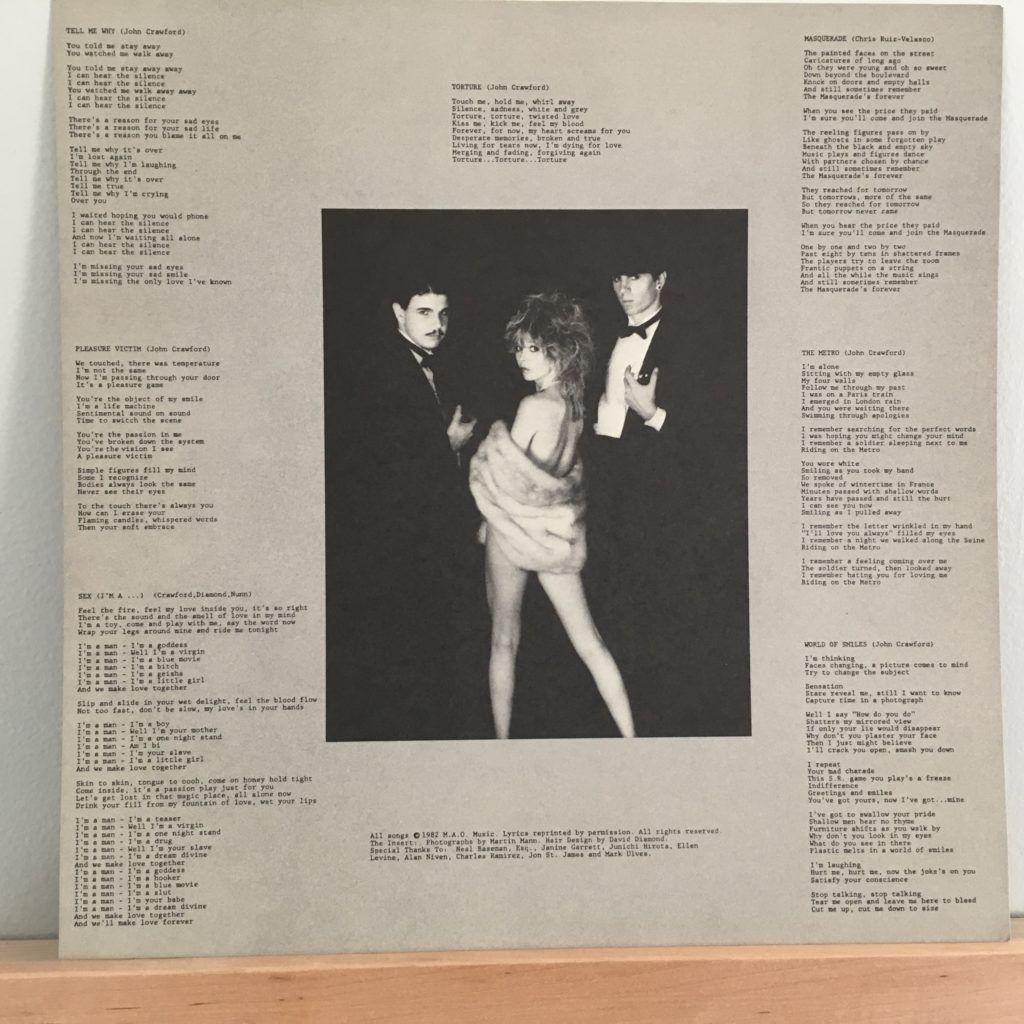 Pleasure Victim lyric sheet