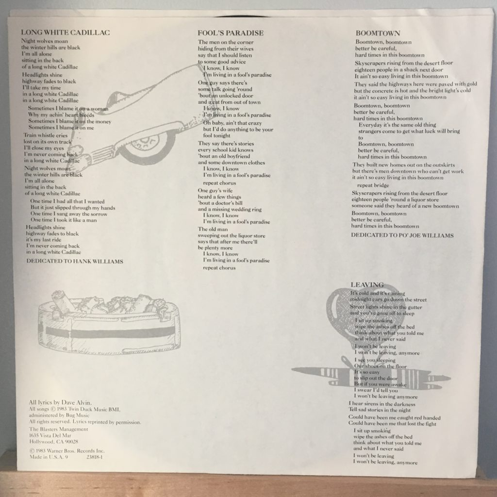 Blasters Non-Fiction lyric sleeve 2