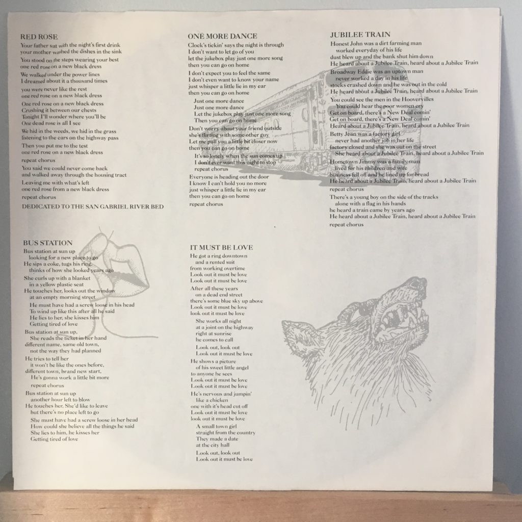 Blasters Non-Fiction lyric sleeve