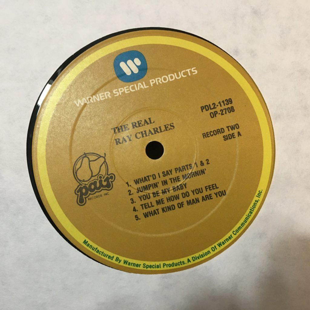 Real Ray Charles Label