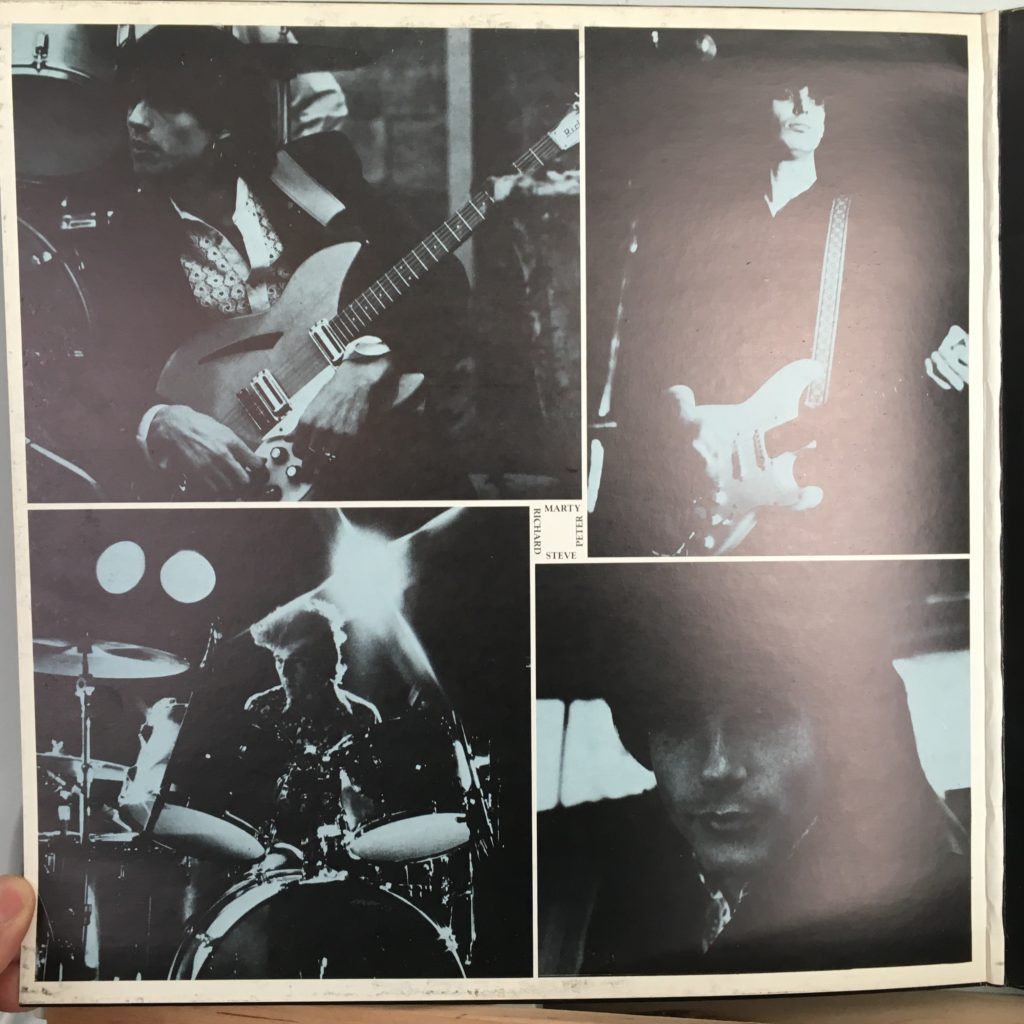 Blurred Crusade gatefold band pics