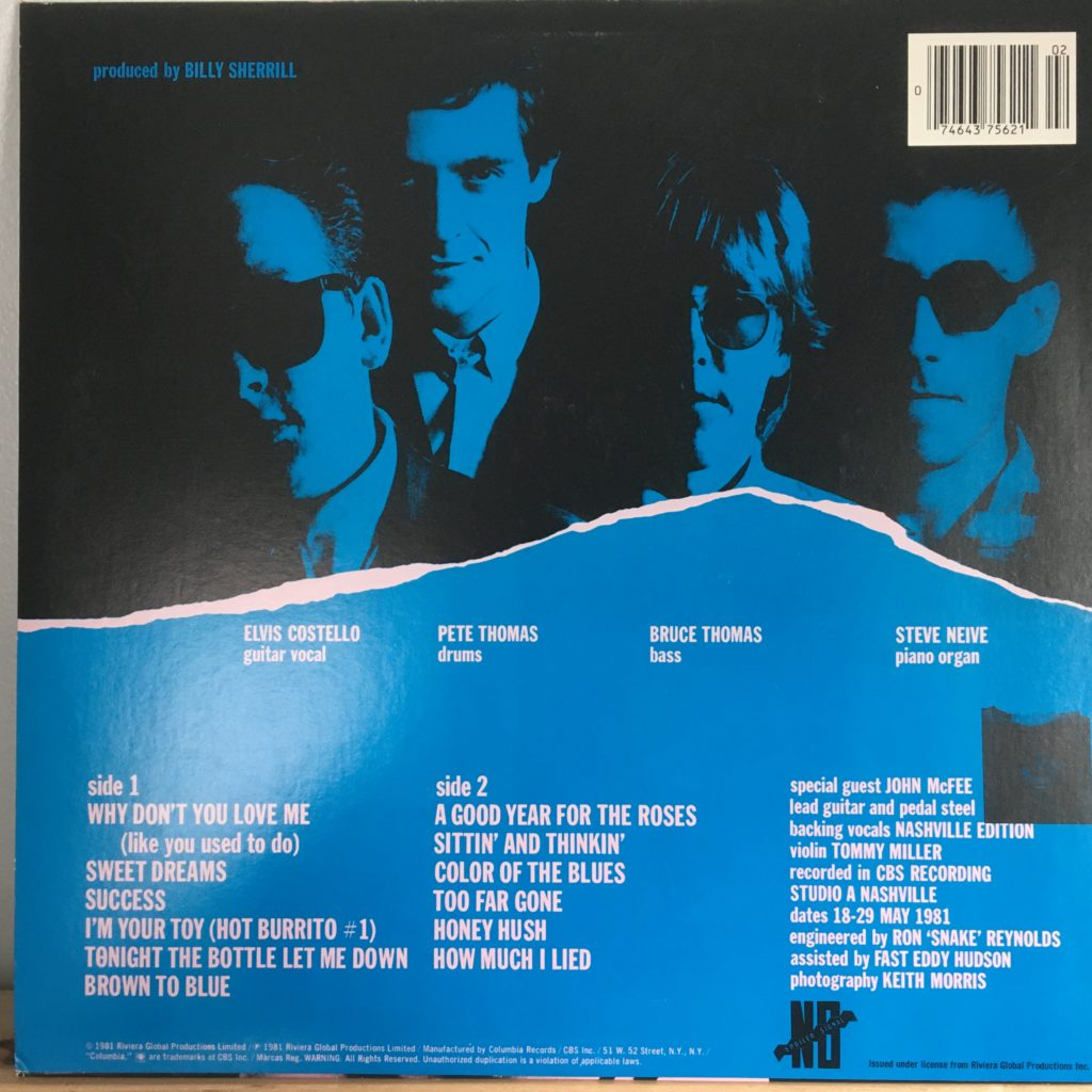 Almost Blue back cover