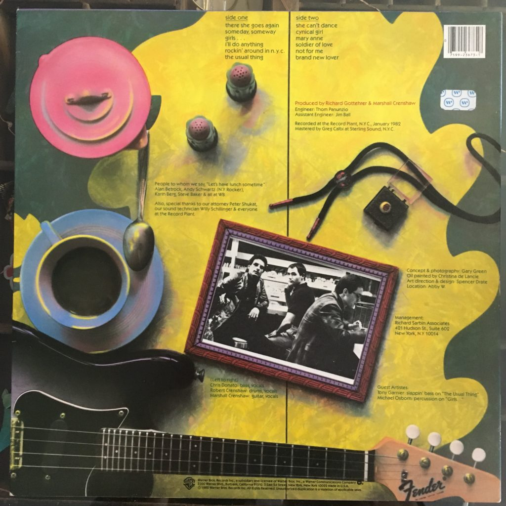 Marshall Crenshaw back cover