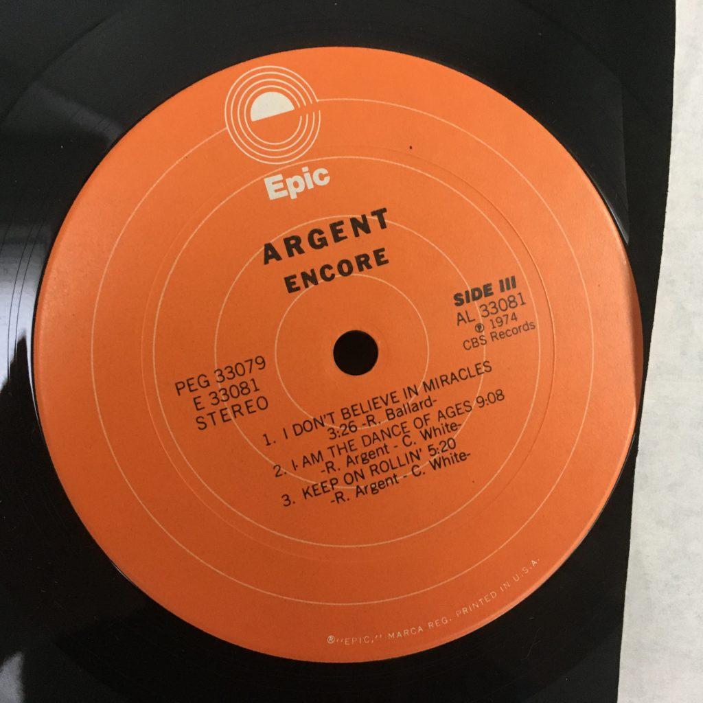 Argent Encore Epic label