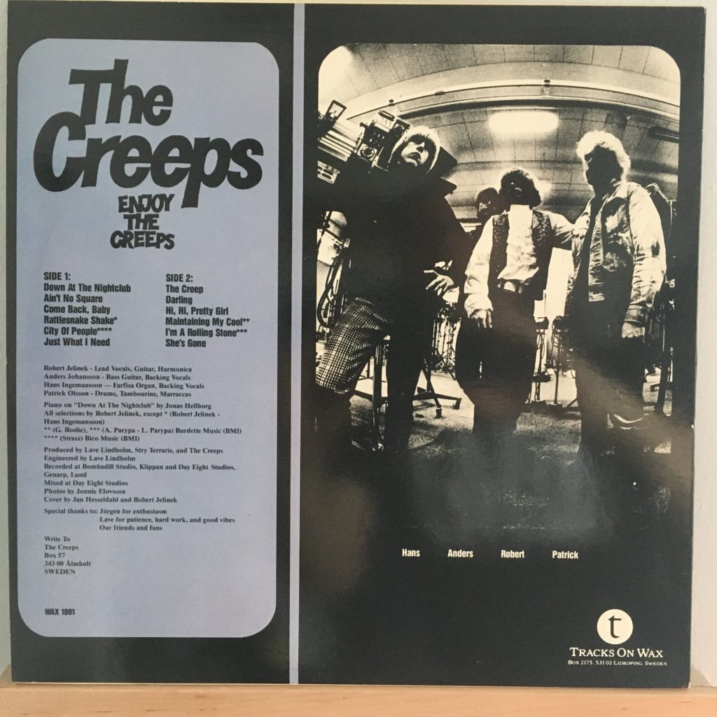 The Creeps -- Enjoy The Creeps back cover