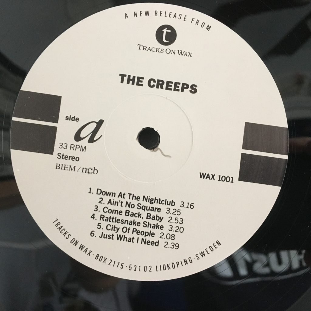 Simple label for The Creeps
