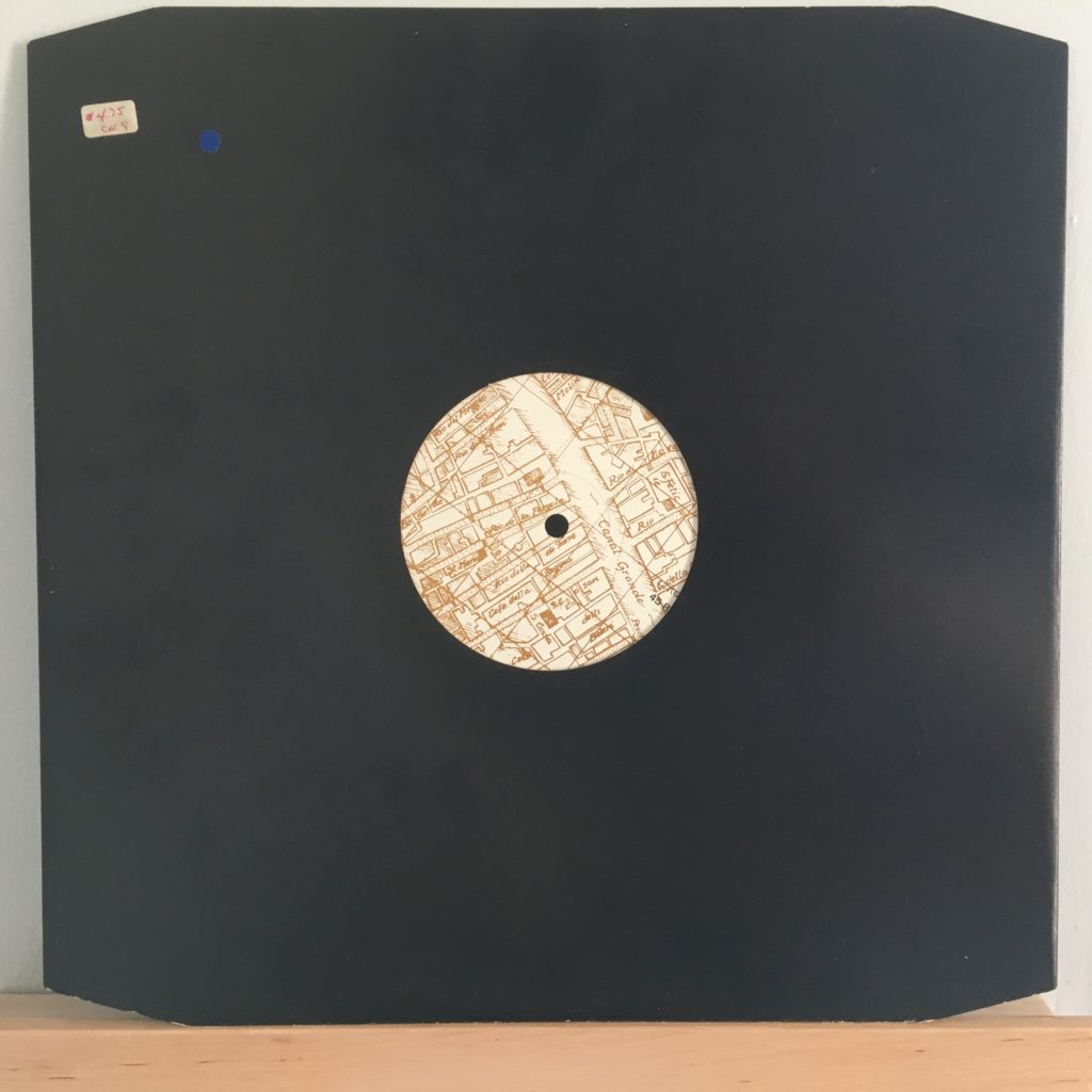 Europa map label in a plain sleeve