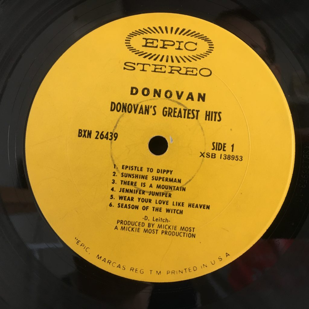 Epic Yellow Label for Donovan
