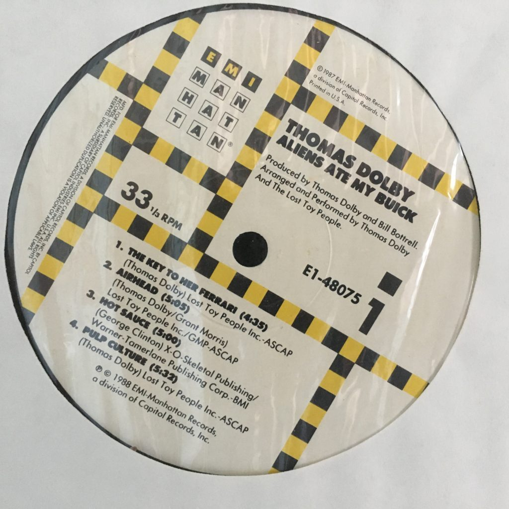 Aliens Ate My Buick EMI Manhattan label