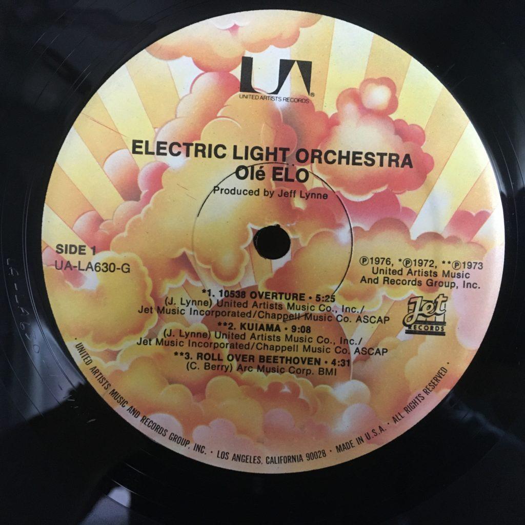 Olé ELO label on UA/Jet