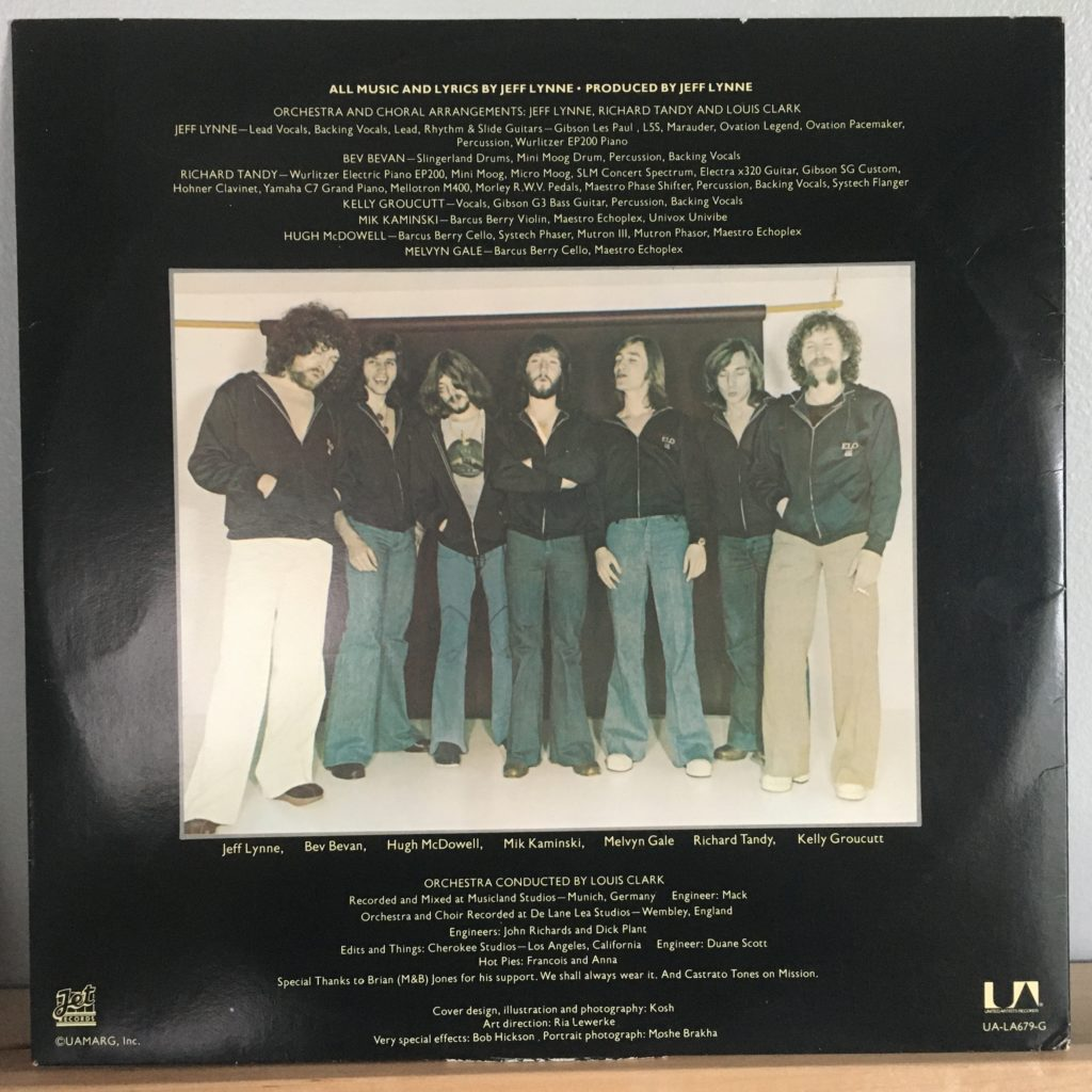 ELO New World Record credits on lyric sleeve