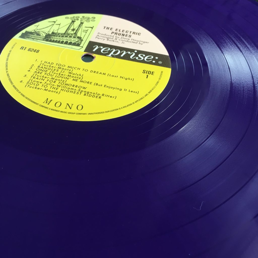 Purple vinyl on the Rhino reissue of The Electric Prunes
