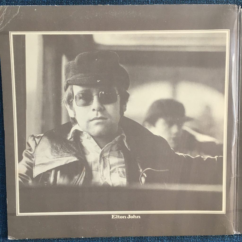 Tumbleweed Connection gatefold photo of Elton