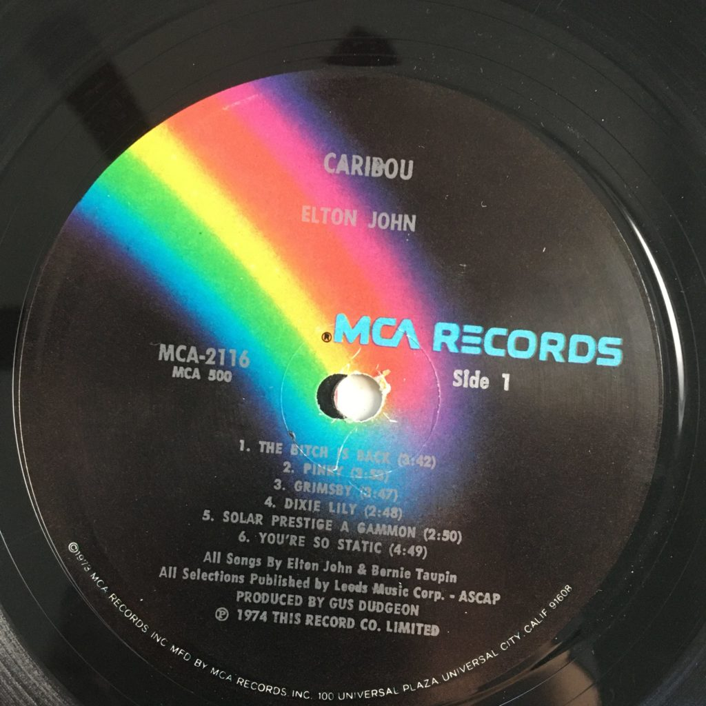 Caribou on the MCA rainbow label