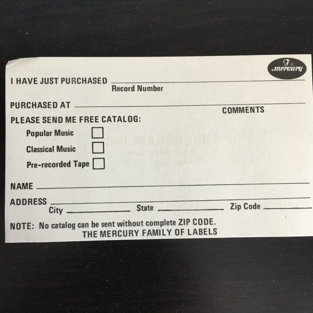 Be sure to register your purchase with the Mercury family of labels!