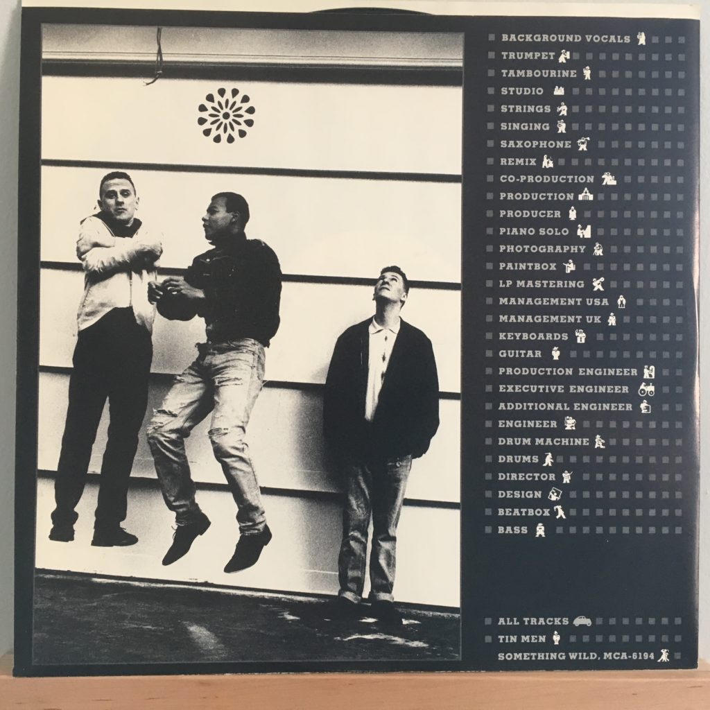 Fine Young Cannibals back of credit sleeve