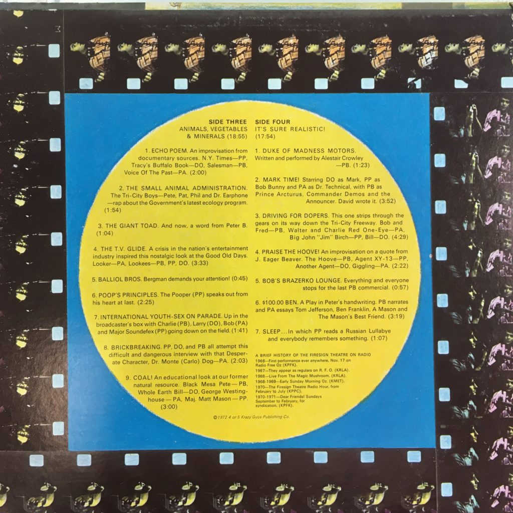 Dear Friends gatefold right -- with track descriptions
