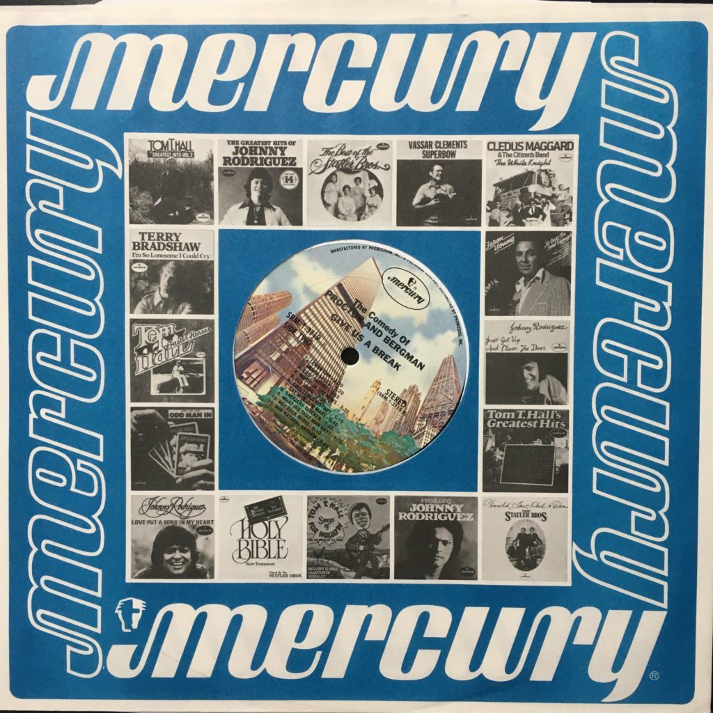 Give Us A Break label and Mercury promo sleeve
