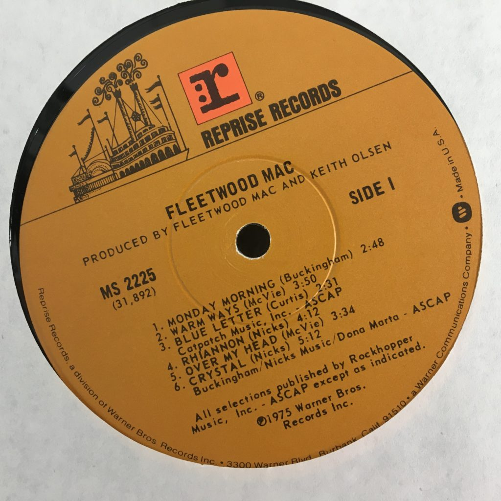 Fleetwood Mac Reprise label