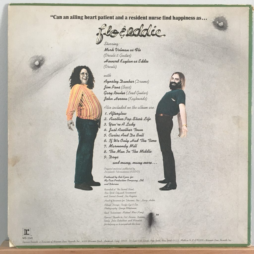 Flo & Eddie back cover