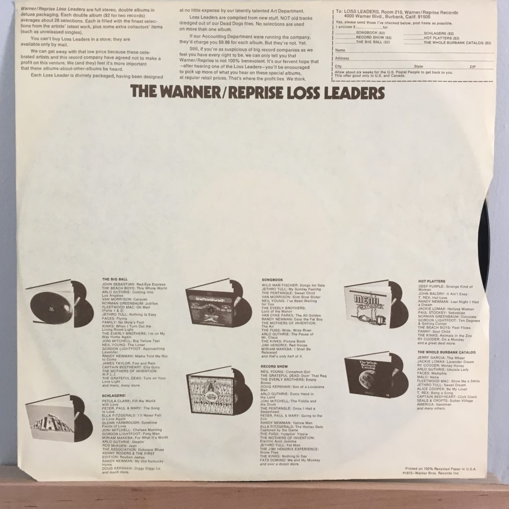 Warner/Reprise Loss Leader sleeve