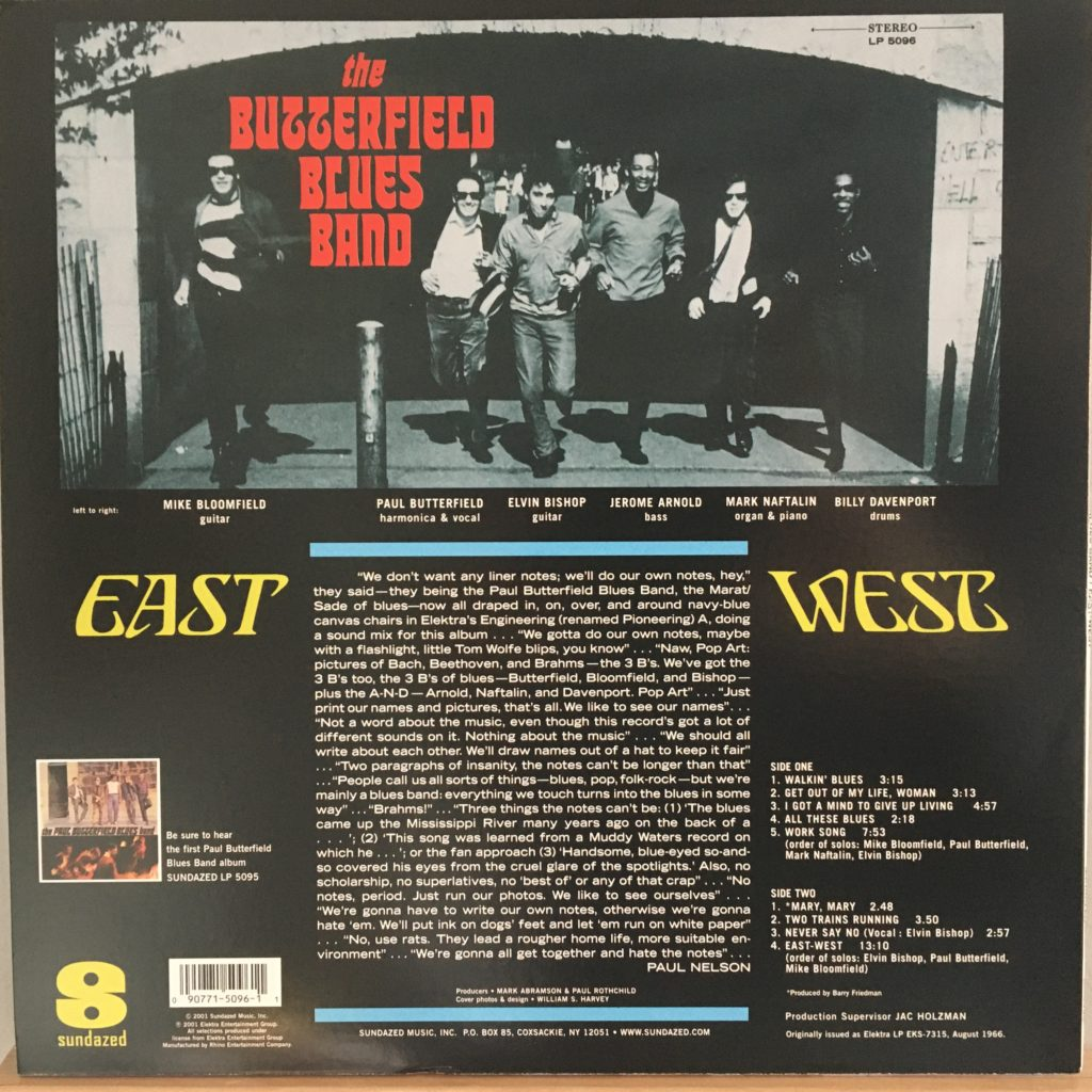 East-West back cover