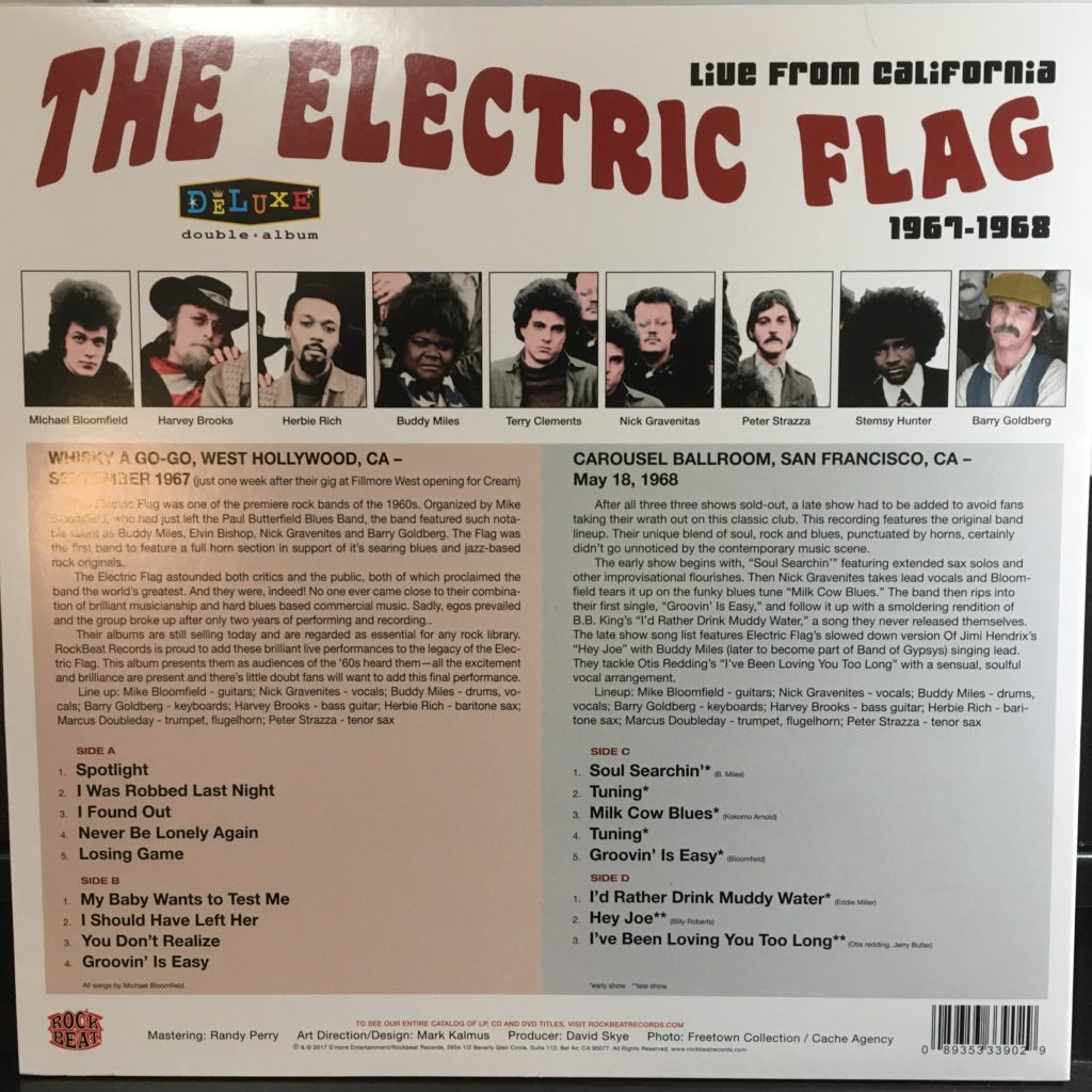 Electric Flag back cover and liner notes