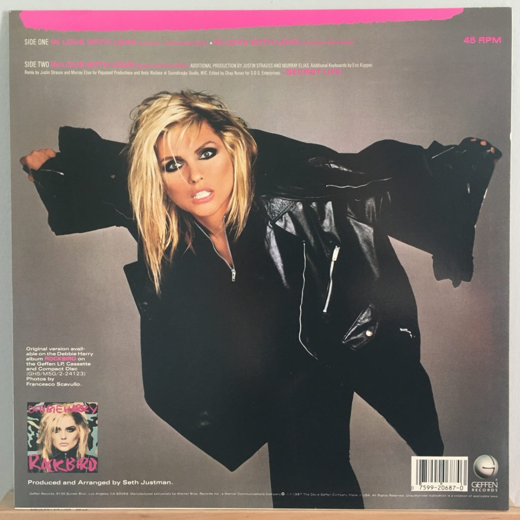 "In Love With Love 12"" single back cover"