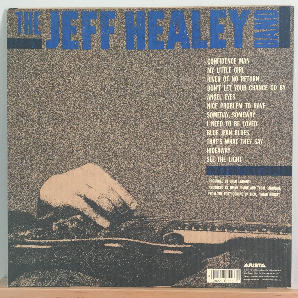 Jeff Healey Band back cover