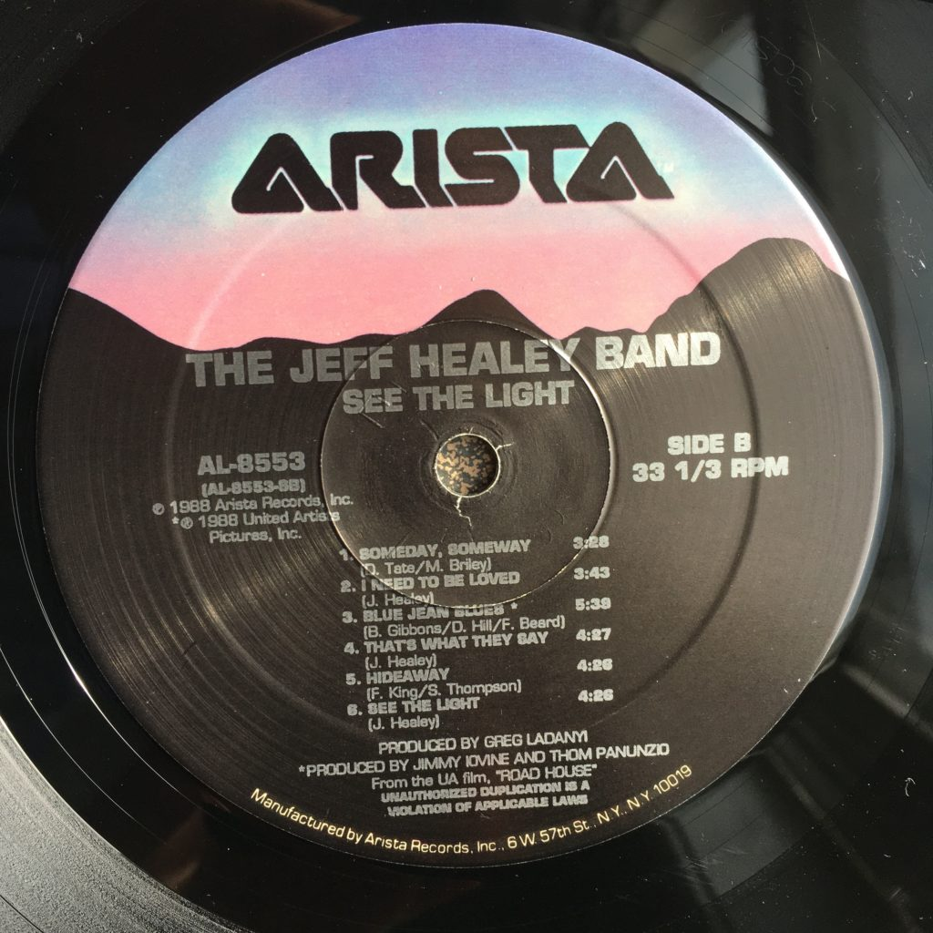 Jeff Healey label