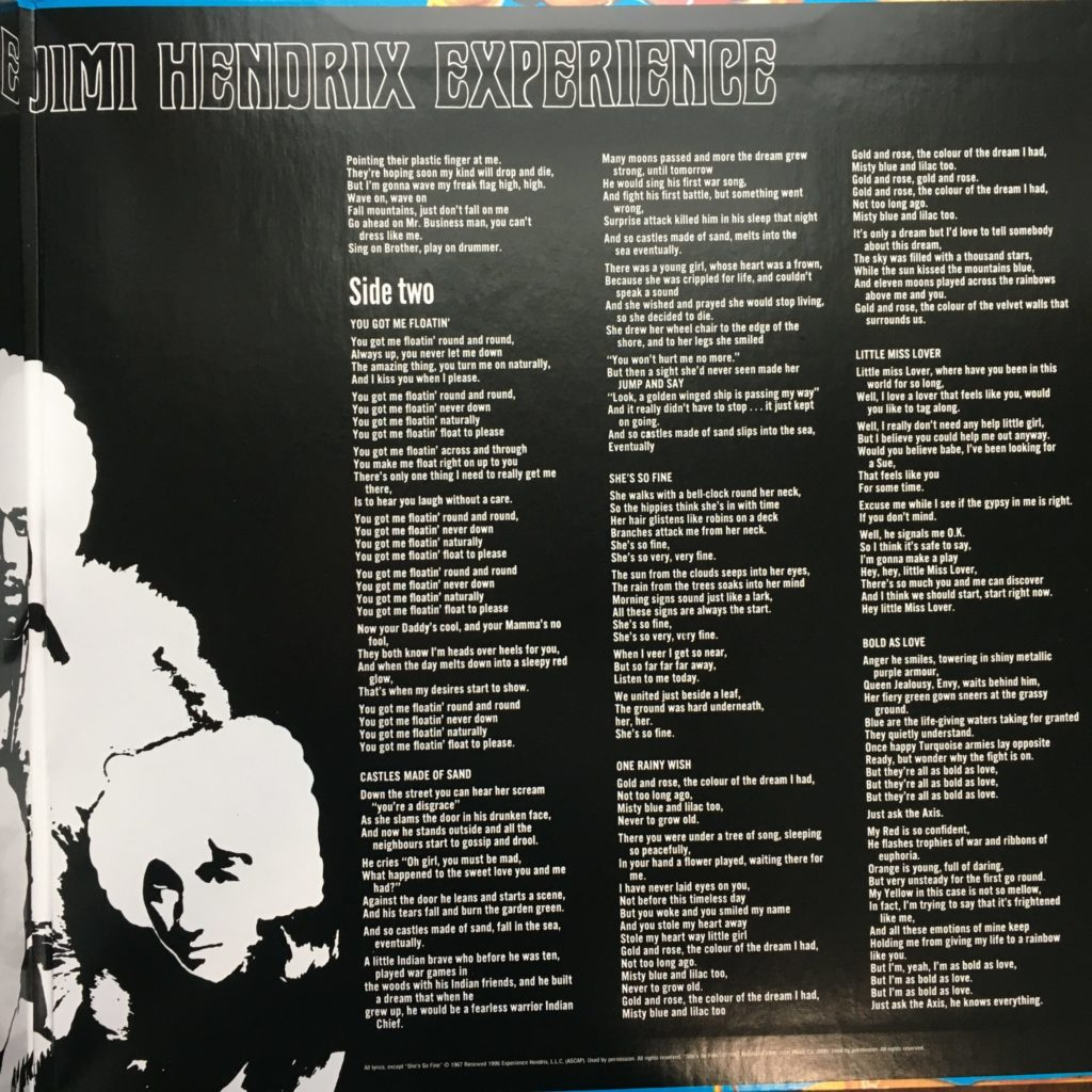 Axis gatefold right with lyrics